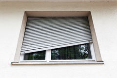 Broken window blind Royalty Free Stock Photography