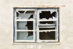 Broken Window with concrete wall around Royalty Free Stock Images