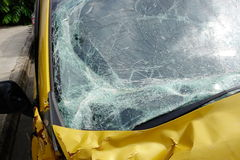 Broken window. Of crashed car Royalty Free Stock Photography