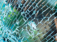 Broken window glass Stock Photos