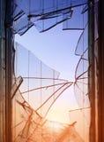 Broken window glass Stock Image