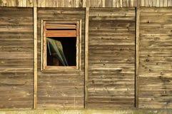 Broken window. A broken window of a holiday chalet near Constanta, Romania Royalty Free Stock Photography