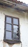 Broken Window. House with a broken window Stock Photos