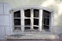 Broken Window. House with a broken window Stock Image
