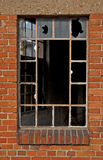 Broken window. Of an industrial building royalty free stock photos
