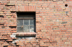 Broken window. Of an old building royalty free stock photography