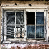 Broken Window on Old Derelict Abandoned Building Royalty Free Stock Images