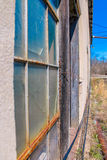 Broken Window. In an old, deserted factory Royalty Free Stock Photos