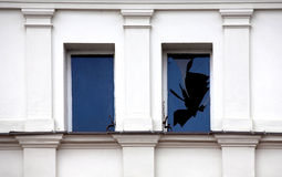 Broken window. Royalty Free Stock Image