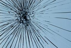 Broken window pane Royalty Free Stock Image