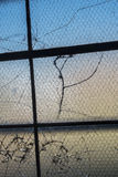 Broken window panes_3 Royalty Free Stock Photography