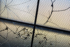 Broken window panes_1 Royalty Free Stock Images