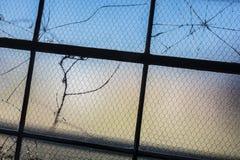 Broken window panes_2 Stock Photos