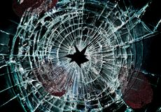 Broken window and prints Royalty Free Stock Images