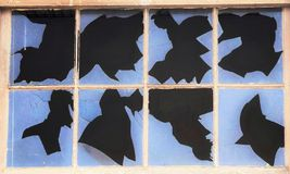 Broken Window Rorschach Test Stock Photos