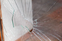 Broken window Royalty Free Stock Photo