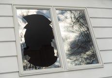 Broken window_1 Royalty Free Stock Image