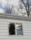 Broken window_3 Stock Image