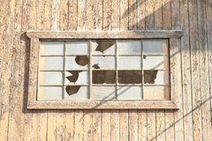 Broken window Royalty Free Stock Photos