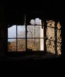 Broken windows. Royalty Free Stock Image