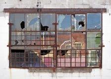 Broken Windows Stock Photo