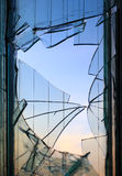 Broken windows glass Royalty Free Stock Image