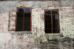 Broken Windows Royalty Free Stock Photography