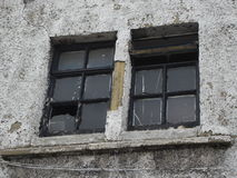 Broken Windows in Urban Scene Stock Photos