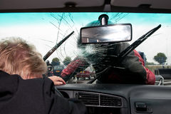 Broken windscreen Stock Photos