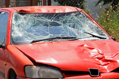 Broken windscreen Stock Photography