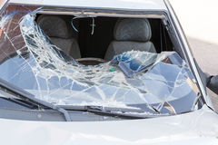 Broken Windscreen of a Car Royalty Free Stock Photos