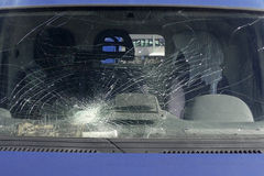 Broken windscreen Royalty Free Stock Image