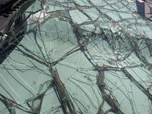 broken windshield Royaltyfri Foto