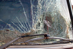 broken windshield Fotografering för Bildbyråer