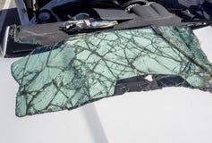 Broken windshield Stock Image