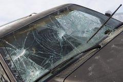 Broken Windshield Of Car Stock Photography