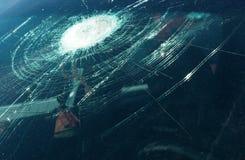 Broken windshield Stock Images