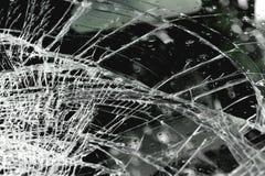 Broken windshield in car accident Stock Image
