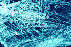 Broken windshield in car accident Stock Image