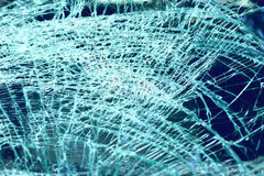Broken windshield in car accident Stock Photos