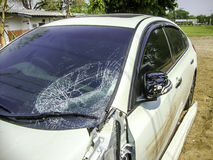 Broken windshield Stock Image