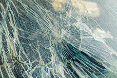Broken windshield Stock Images