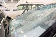 Broken windshield Royalty Free Stock Photo
