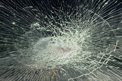 Broken windshield Royalty Free Stock Images