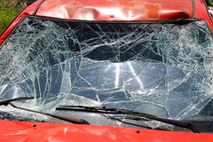 Broken Windshield Royalty Free Stock Photography