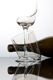 Broken wine glass. Royalty Free Stock Image