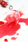 Broken wine glass Stock Photography