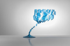 Broken wine glass Stock Images