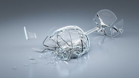 Free Broken Wine Glass Royalty Free Stock Images - 63334559
