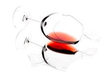Broken wine glass Stock Photos